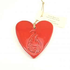 Hasina Large Heart With Koru, Twist, or Hook Boxed