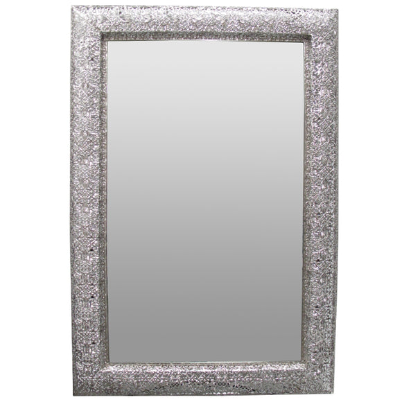 Marrakesh Rectangular Silver Mirror