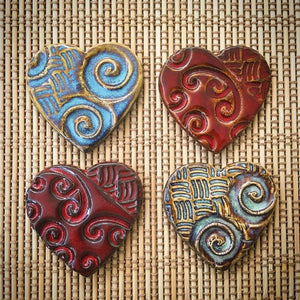 Michelle Bow Ceramic Heart Magnet