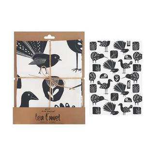 NZ Native Birds Tea Towel