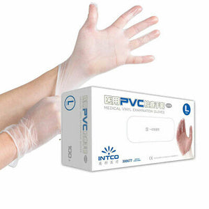 Intco Medical Vinyl Examination Gloves - 100pc