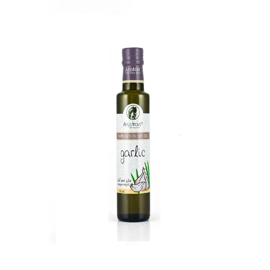 Garlic Infused Olive oil, imported by Alpha Omega Imports