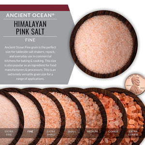 himalayan pink fine grain salt grain side, distributed by alpha omega imports
