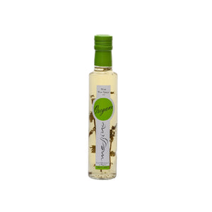 White wine vinegar with oregano imported from Greece by Aplha Omega Imports