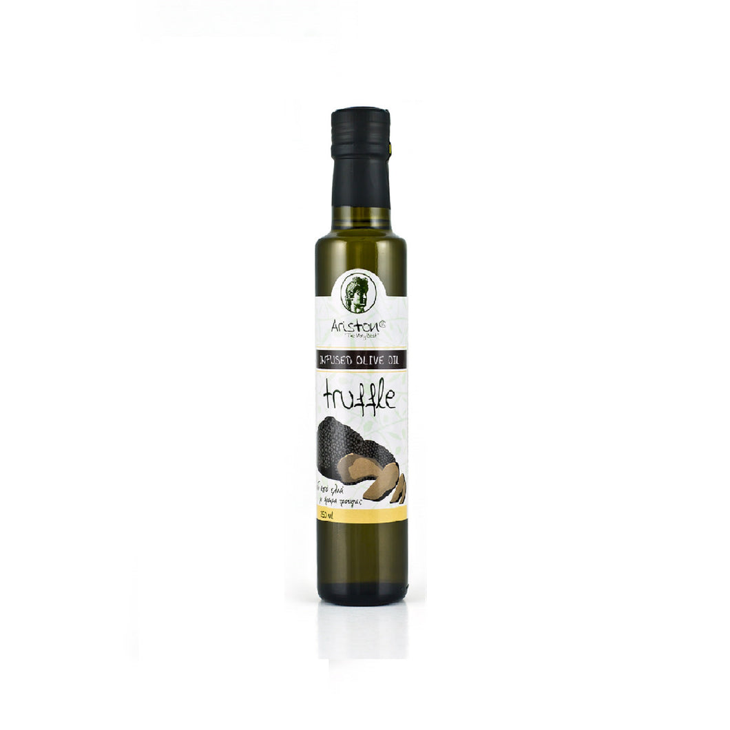 Truffle Infused Olive oil, imported from Greece by Alpha Omega Imports