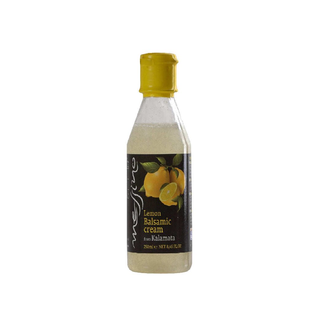 Lemon Balsamic Cream from Kalamata Greece. Imported by Alpha Omega Imports, Inc