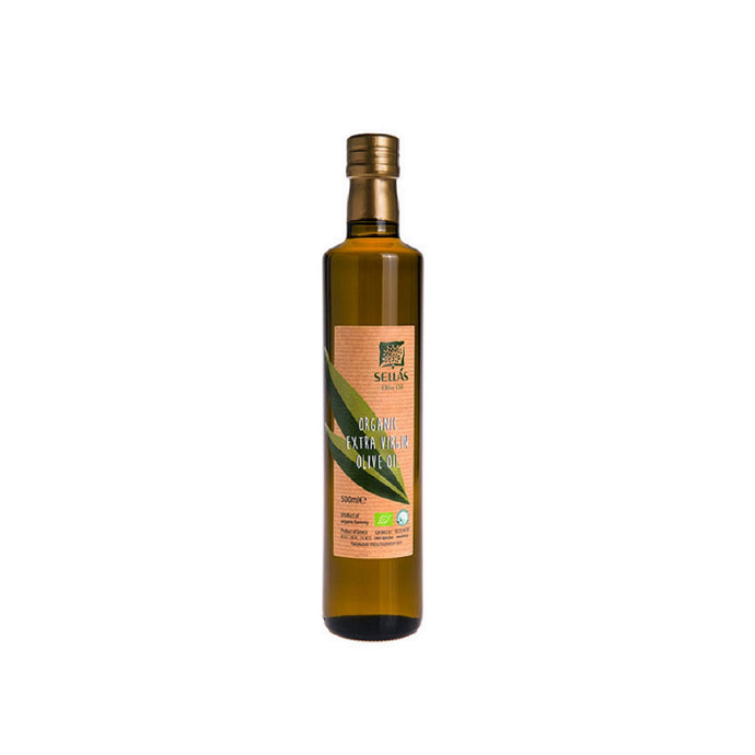 Sellas Organic Extra Virgin Olive Oil. Imported from Greece by Alpha Omega Imports, Inc