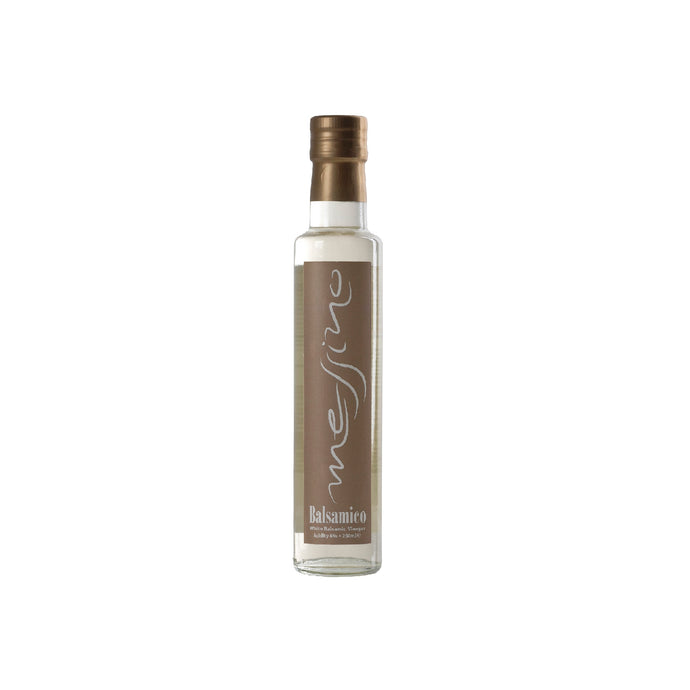 Messino White Balsamic Vinegar from Kalamata Greece. Imported by Alpha Omega Imports, Inc