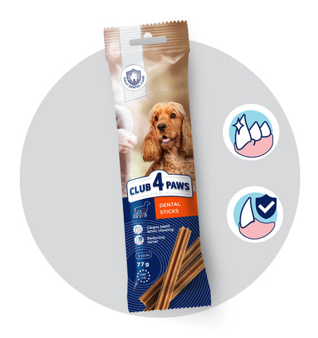 "CLUB4PAWS PREMIUM. ""DENTAL STICKS"" PER CANI DI TAGLIA MEDIA, 77GR"