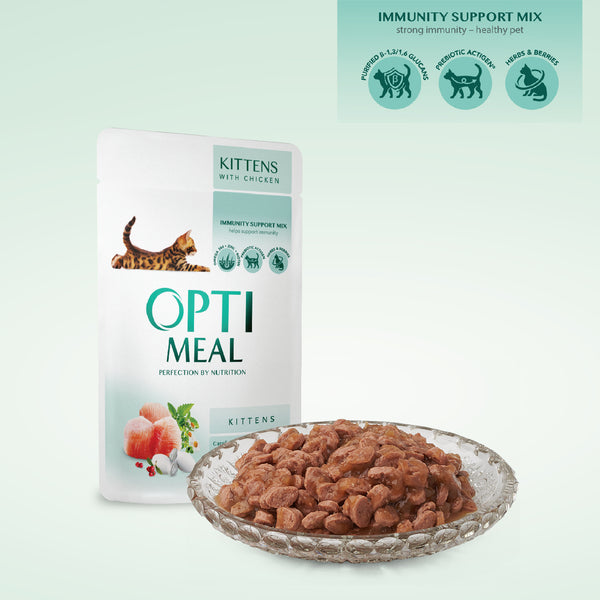 OPTIMEAL. CIBO UMIDO PER GATTINI - POLLO, 85GR