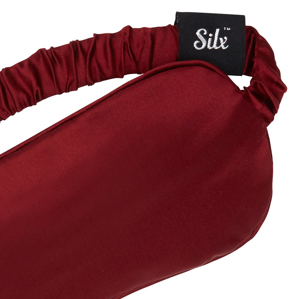 burgundy silk sleep mask