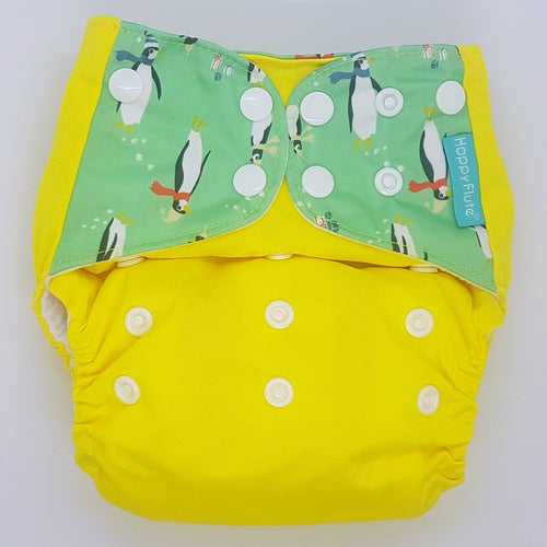 Happy Flute Yellow with Penguin Tabs MCN