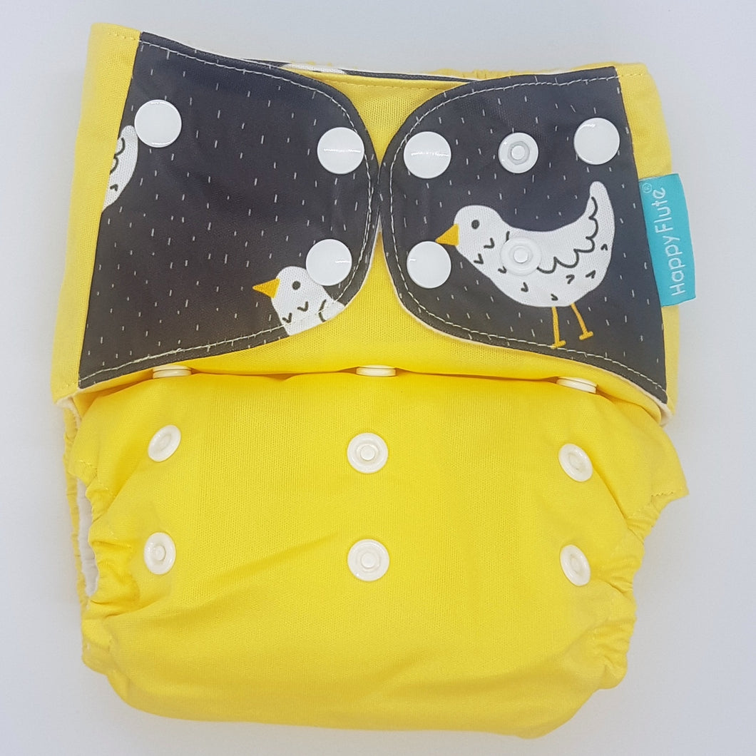 Happy Flute Yellow with Bird Tabs MCN