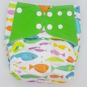 Happy Flute 4-Pack Green Fish MCN