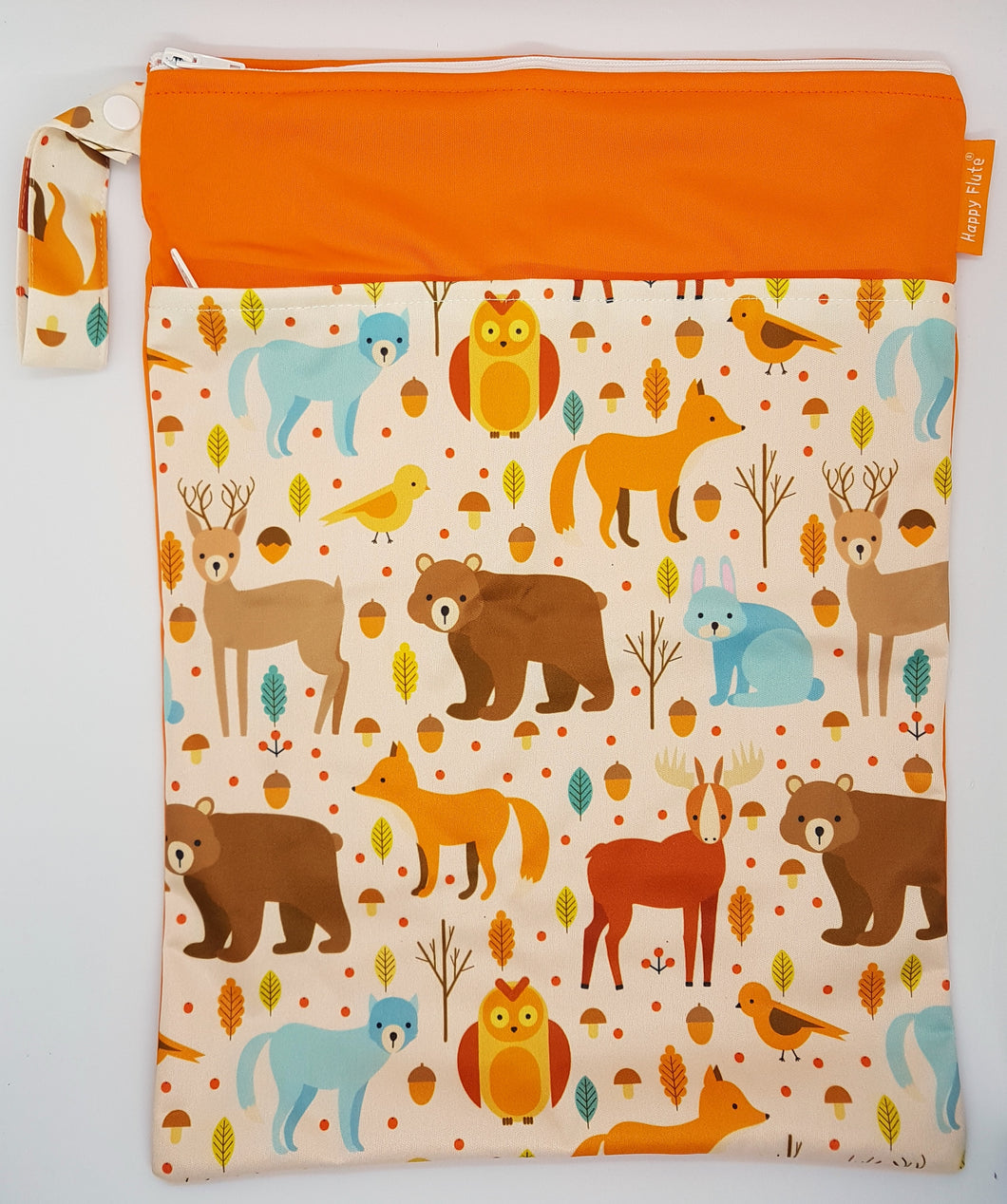 Happy Flute Wet Bag - Woodland Animals