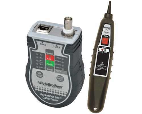 Triplett/Byte Brothers CTX200P - Pocket Cat 5/6 - Coax Tester with lighted probe - Bulk CCTV Store