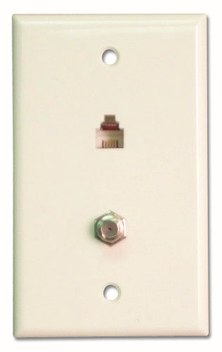 Channel Vision 2009 - Wall Plate with RF and Phone - White - Bulk CCTV Store