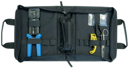 Platinum Tools 90151 EZ-RJ45 HD Basic Termination Kit w/Nylon Zip Case - Bulk CCTV Store