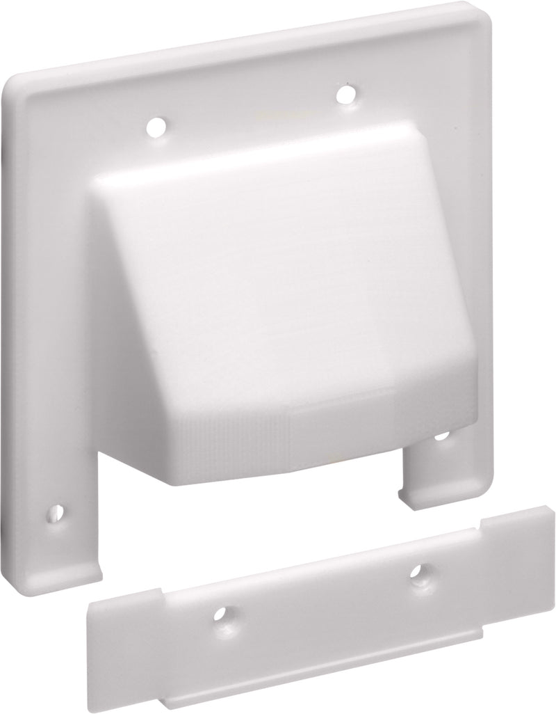 Arlington Industries CER2 - Reversible Two-Piece Low-Voltage Cable Entrance Plate - Bulk CCTV Store