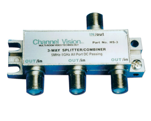 Channel Vision HS-3 3-Way Splitter/Combiner - Bulk CCTV Store