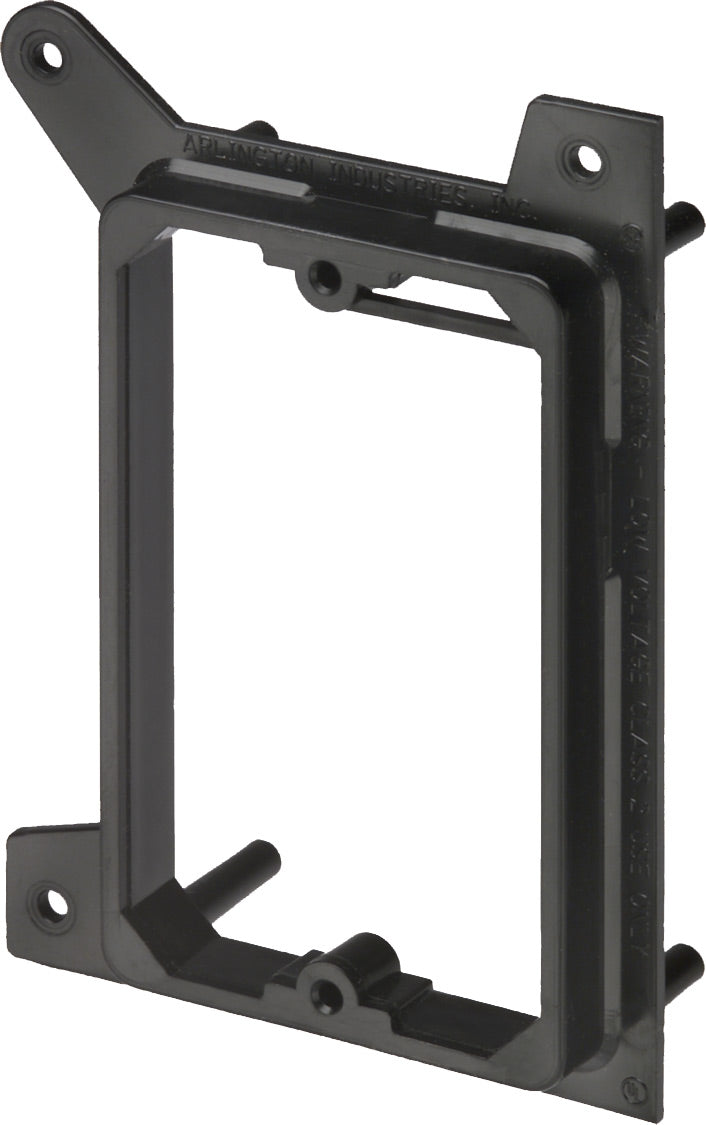Arlington Industries LVH1 - Single-Gang Low-Voltage Mounting Bracket with Wire Tie-Off - Bulk CCTV Store