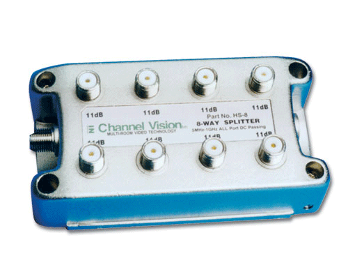 Channel Vision HS-8 8-Way Splitter/Combiner - Bulk CCTV Store