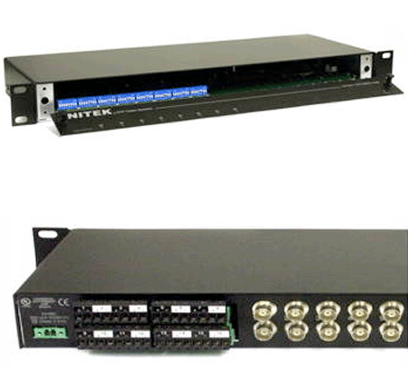 Nitek VH851 - 8 Port Active Video Balun Hub - Bulk CCTV Store