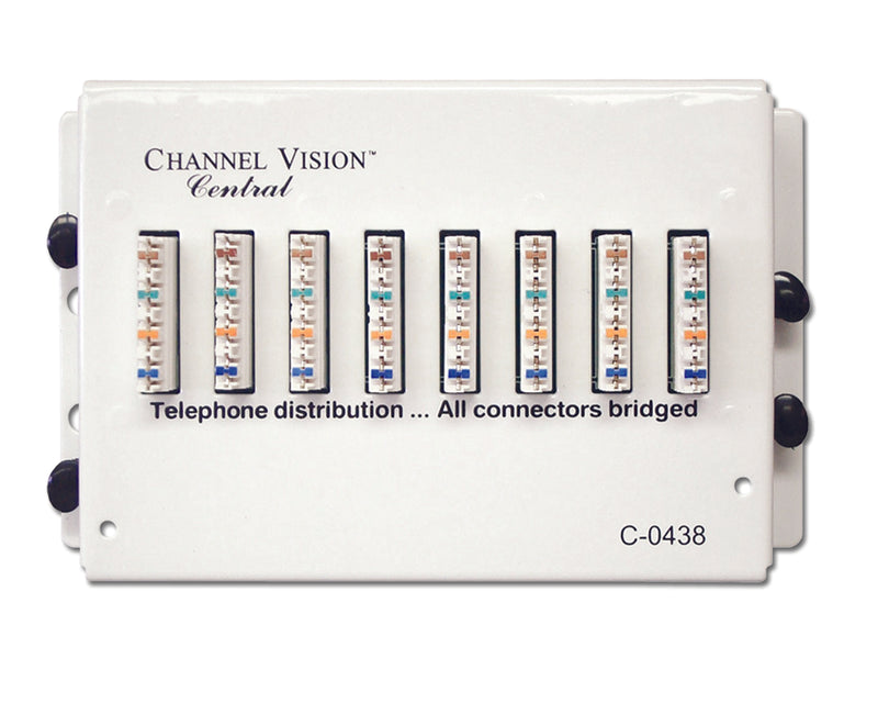Channel Vision C-0438 Telephone Distribution Module - 7-Location - Bulk CCTV Store