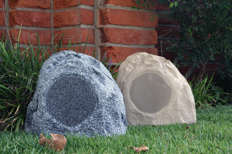 Channel Vision RS801 - 8 Inch Outdoor Rock Speaker - Granite - Bulk CCTV Store