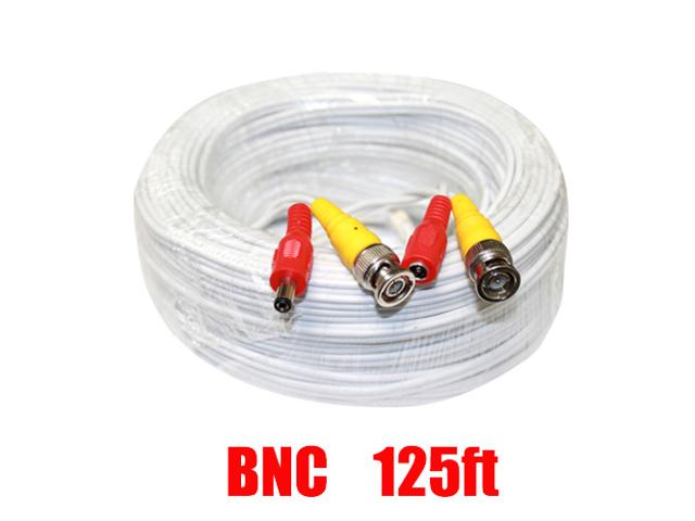 CCTV Premade Security Cable - 125ft WHITE - Bulk CCTV Store