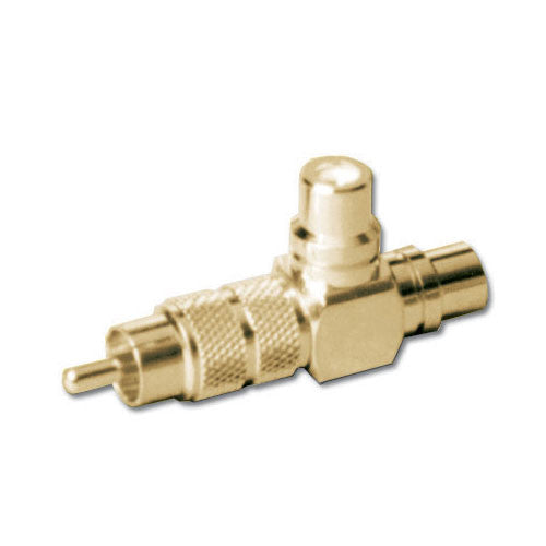 "CV-3104 HQ High Quality gold plated ""Y"" connector for splitting audio & video - Bulk CCTV Store"
