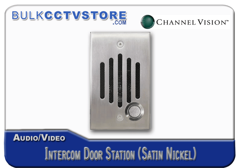 Channel Vision IU-0302 Door Station - Satin Nickel Finish - Bulk CCTV Store