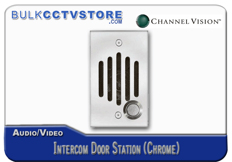 Channel Vision IU-0242 Door Station - Chrome Finish - Bulk CCTV Store