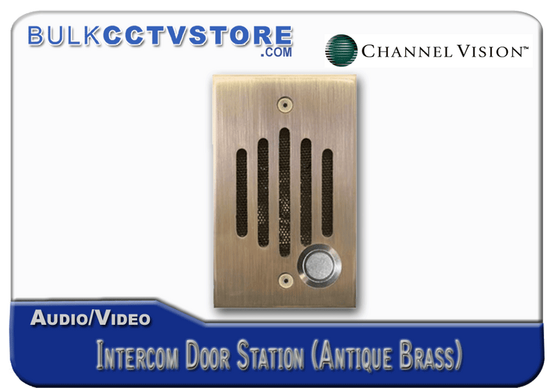 Channel Vision IU-0232 Door Station - Antique Brass Finish - Bulk CCTV Store