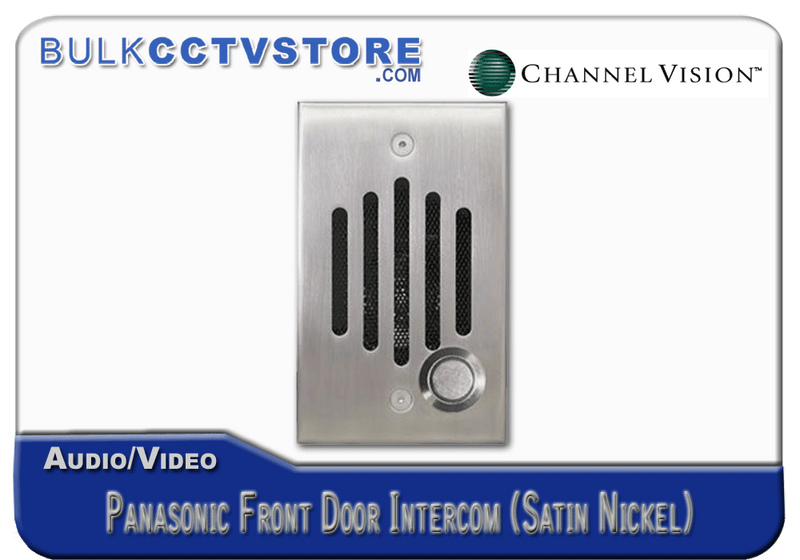 Channel Vision IU-0302P Single Gang Panasonic Front Door Intercom - Satin Nickel Finish - Bulk CCTV Store