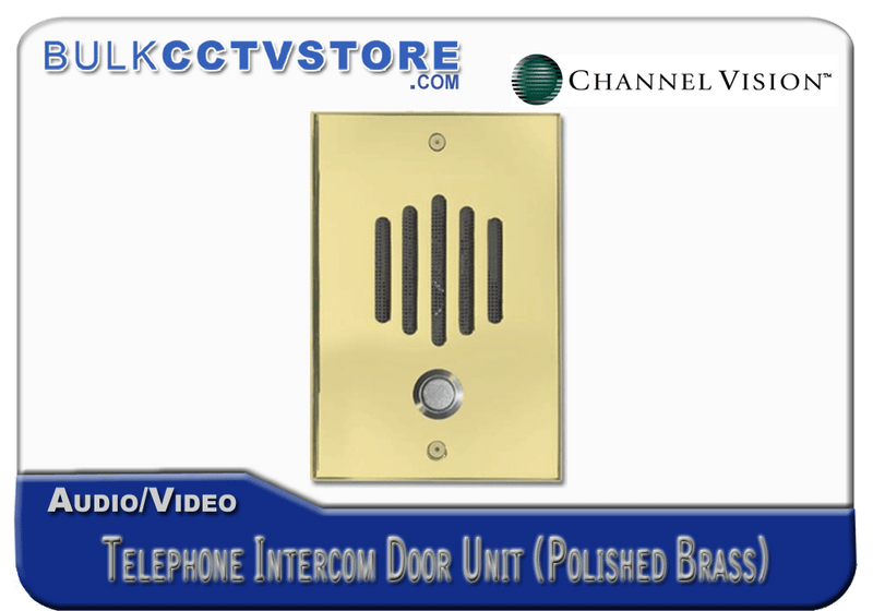 Channel Vision DP-0222 Telephone Intercom Door Unit - Polished Brass Finish - Bulk CCTV Store