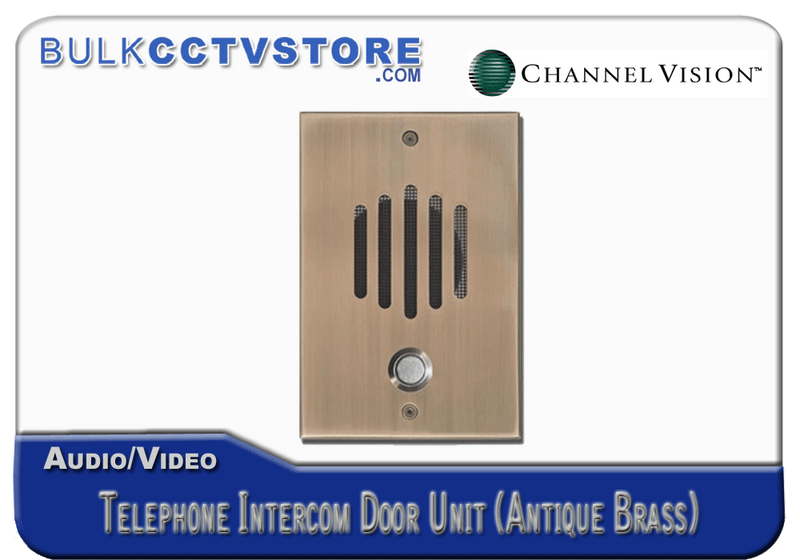 Channel Vision DP-0232 Telephone Intercom Door Unit - Antique Brass Finish - Bulk CCTV Store