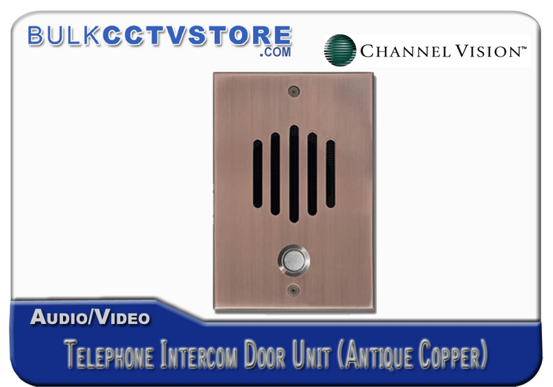 Channel Vision DP-0262 Telephone Intercom Door Unit - Antique Copper Finish - Bulk CCTV Store