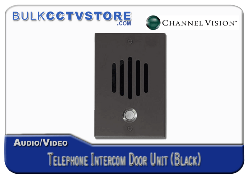 Channel Vision DP-0282 Telephone Intercom Door Unit - Black Finish - Bulk CCTV Store