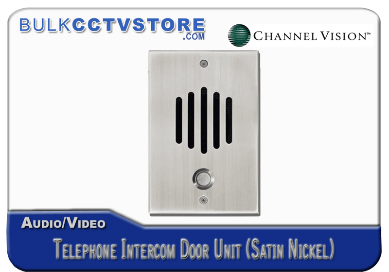 Channel Vision DP-0302 Telephone Intercom Door Unit - Satin Nickel Finish - Bulk CCTV Store
