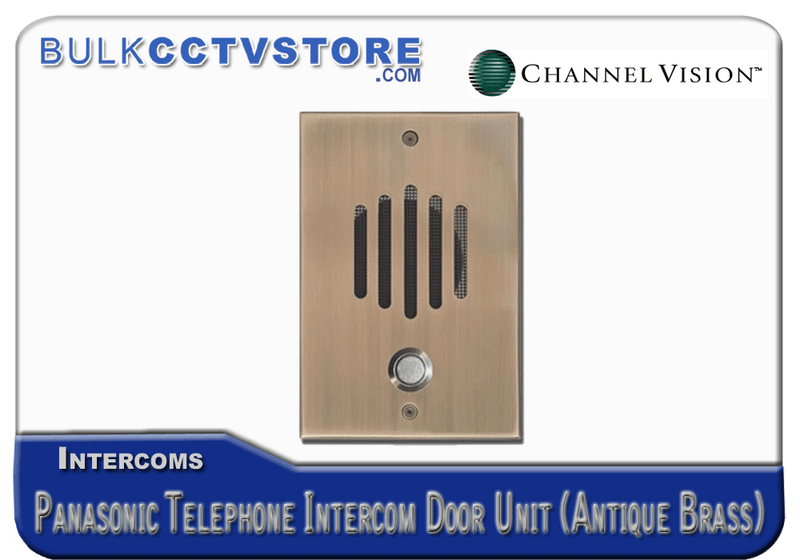 Channel Vision DP-0232P Panasonic Telephone Intercom Door Unit- Antique Brass Finish - Bulk CCTV Store