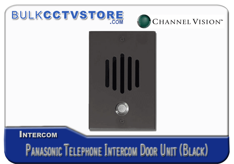 Channel Vision DP-0282P Panasonic Telephone Intercom Door Unit- Black Finish - Bulk CCTV Store