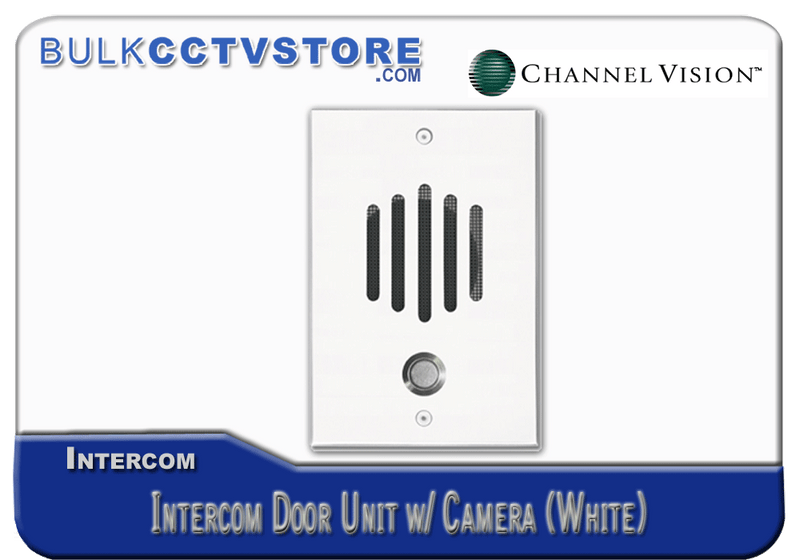 Channel Vision DP-6212 Intercom Door Unit with Camera - White Finish - Bulk CCTV Store