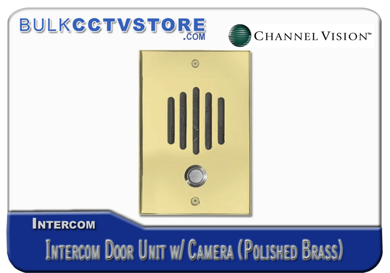 Channel Vision DP-6222 Intercom Door Unit with Camera - Polished Brass Finish - Bulk CCTV Store