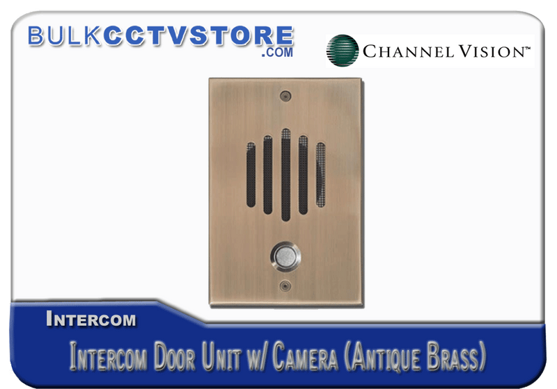 Channel Vision DP-6232 Intercom Door Unit with Camera - Antique Brass Finish - Bulk CCTV Store