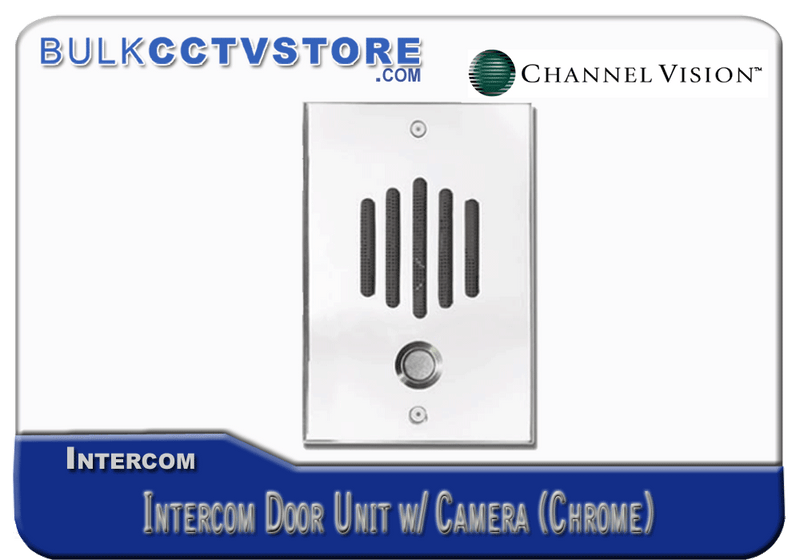 Channel Vision DP-6242 Intercom Door Unit with Camera - Chrome Finish - Bulk CCTV Store