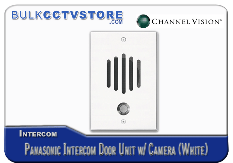 Channel Vision DP-6212P - Panasonic Door Plate With Color Camera - White Finish - Bulk CCTV Store