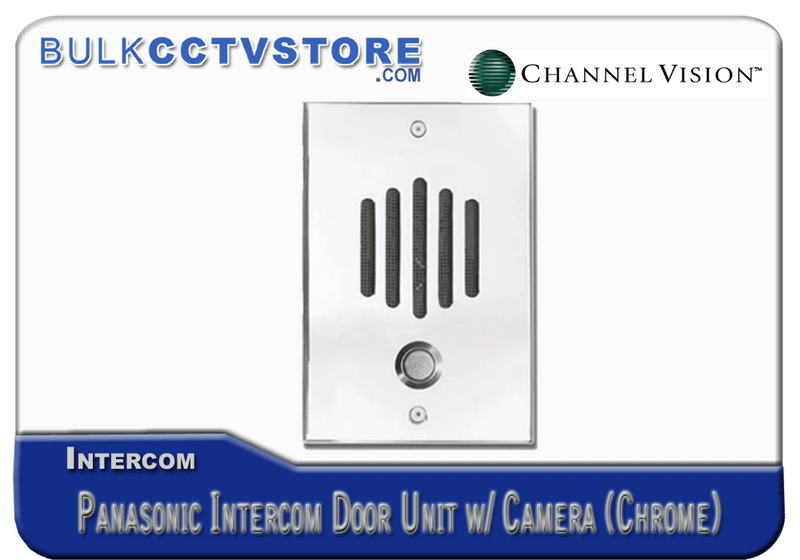 Channel Vision DP-6242P - Panasonic Door Plate With Color Camera - Chrome Finish - Bulk CCTV Store