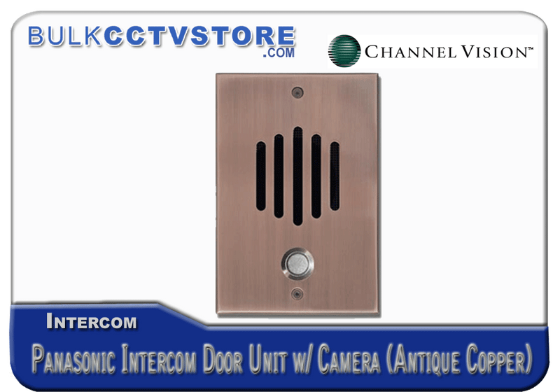 Channel Vision DP-6262P - Panasonic Door Plate With Color Camera - Antique Copper Finish - Bulk CCTV Store