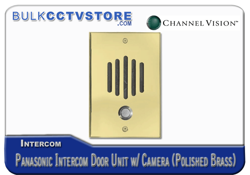 Channel Vision DP-6282P - Panasonic Door Plate With Color Camera - Black Finish - Bulk CCTV Store